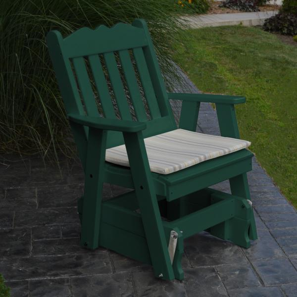 A & L Furniture Poly Royal English Gliding Chair Glider Turf Green