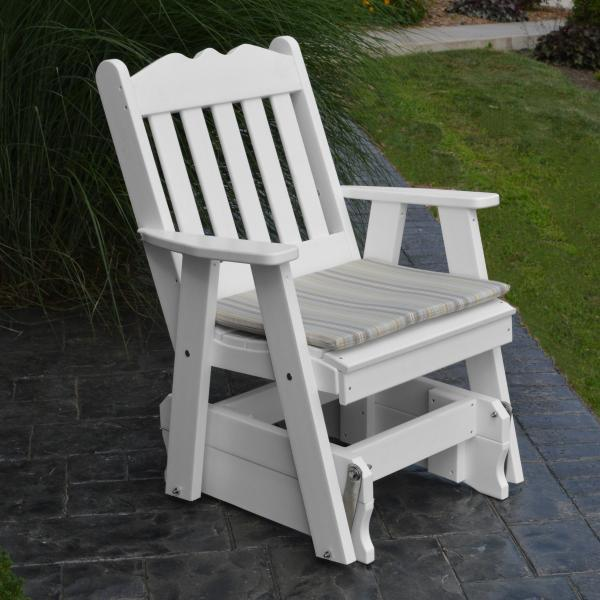 A & L Furniture Poly Royal English Gliding Chair Glider White