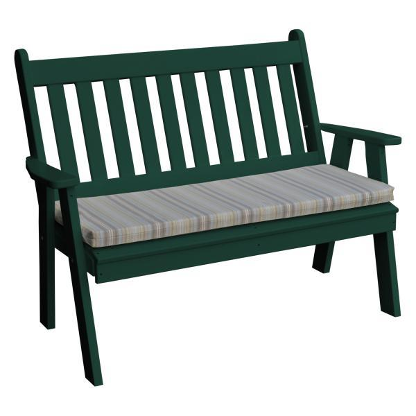 Awesome A L Furniture Poly Traditional English Garden Bench Inzonedesignstudio Interior Chair Design Inzonedesignstudiocom