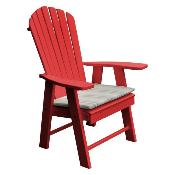 A & L Furniture Poly Upright Adirondack Chair Outdoor Chairs Aruba Blue
