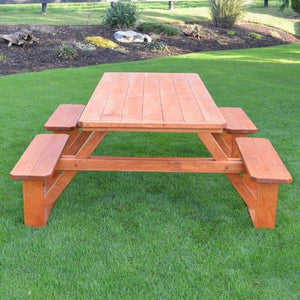 A & L Furniture Pressure Treated Pine 8ft Walk-In Table Picnic Table Cedar / No