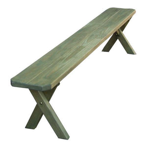 A & L Furniture Pressure Treated Pine Crossleg Bench Picnic Benches 2ft / Linden Leaf