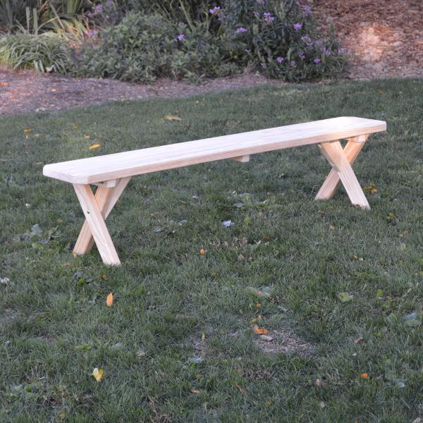 A & L Furniture Pressure Treated Pine Crossleg Bench Picnic Benches 2ft / Unfinished