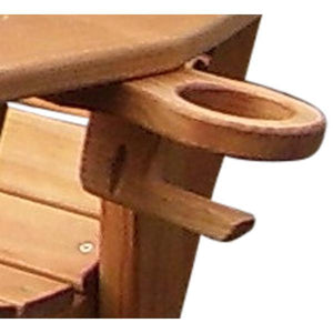 A & L Furniture Pressure Treated Pine Cupholder Cup Holders Cedar