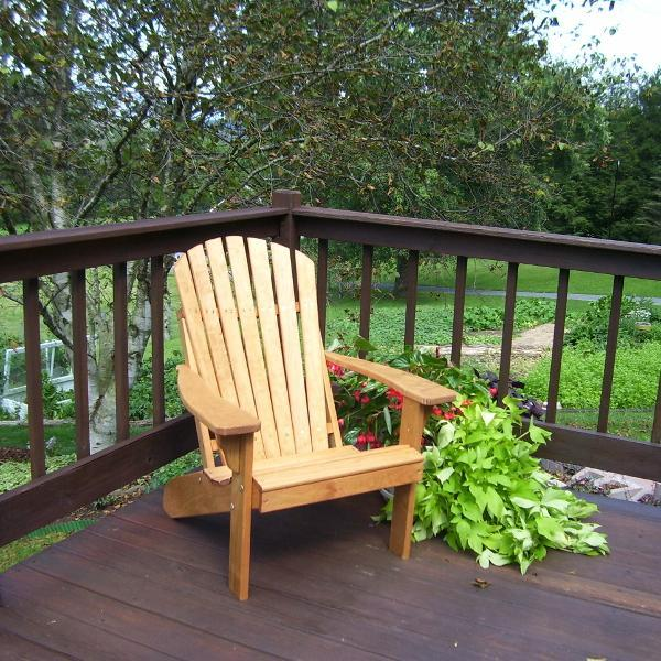 A & L Furniture Pressure Treated Pine Fanback Adirondack Chair Adirondack Cedar