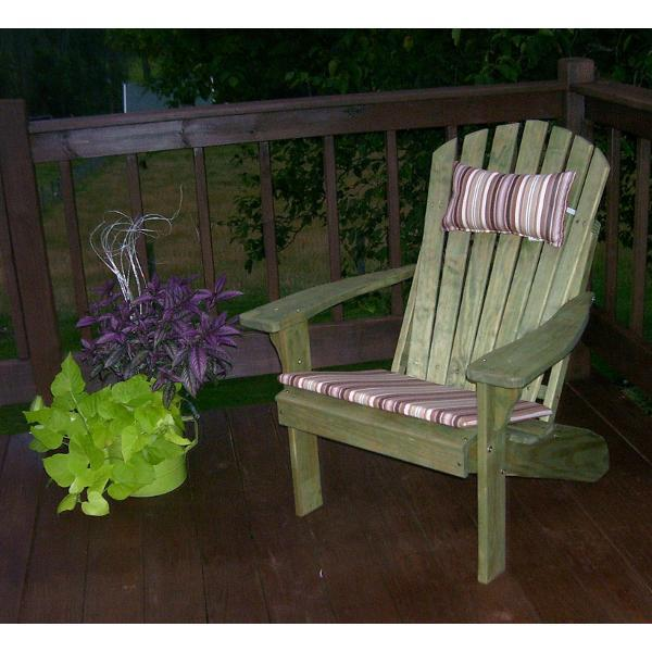A & L Furniture Pressure Treated Pine Fanback Adirondack Chair Adirondack Unfinished