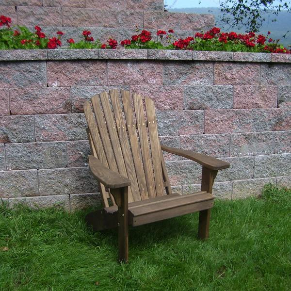 A & L Furniture Pressure Treated Pine Fanback Adirondack Chair Adirondack Walnut