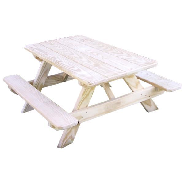 A & L Furniture Pressure Treated Pine Kids Picnic Table Picnic Table Unfinished / No