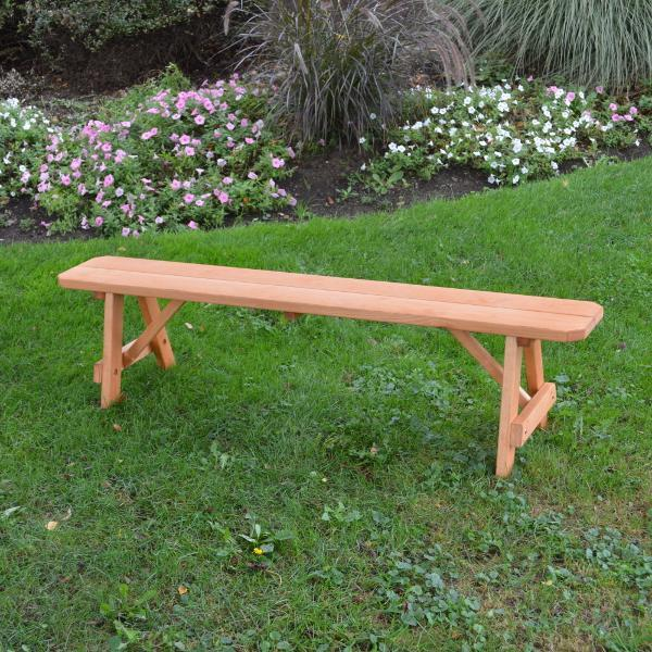 A & L Furniture Pressure Treated Pine Traditional Bench Picnic Benches 2ft / Cedar