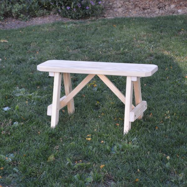 A & L Furniture Pressure Treated Pine Traditional Bench Picnic Benches 2ft / Unfinished