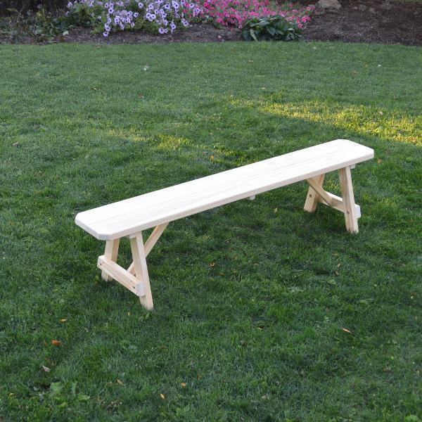 A & L Furniture Pressure Treated Pine Traditional Bench Picnic Benches 6ft / Unfinished
