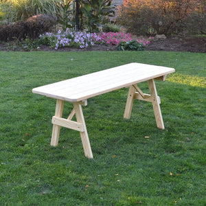 A & L Furniture Pressure Treated Pine Traditional Table Table 4ft / Unfinished / No