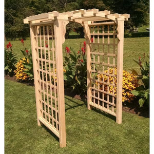 A & L Furniture Pressure Treated Yellow Pine Cambridge Arbor Porch Swing Stands 4ft / Unfinished