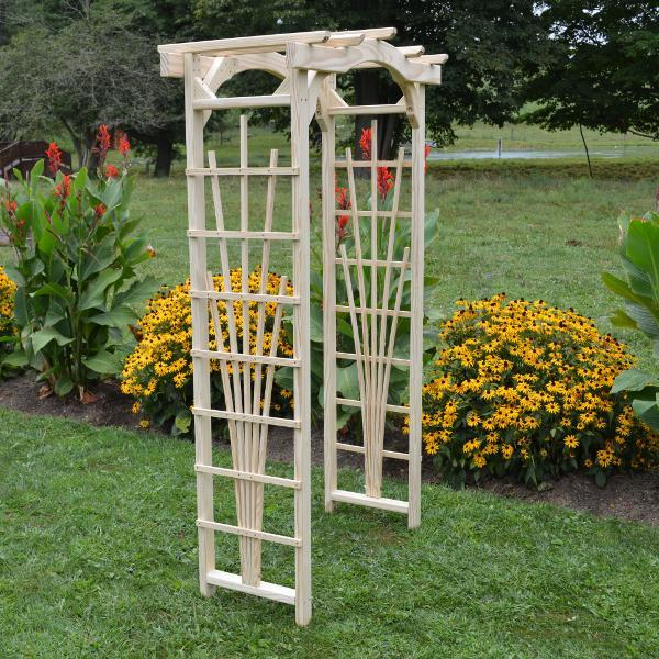 A & L Furniture Pressure Treated Yellow Pine Cranbrook Arbor Porch Swing Stands 3ft / Unfinished