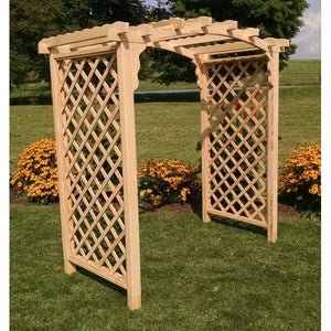 A & L Furniture Pressure Treated Yellow Pine Jamesport Arbor Porch Swing Stands 4ft / Unfinished