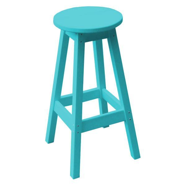 A & L Furniture Recycled Plastic Bar Stool Stool Aruba Blue