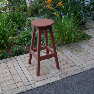 A & L Furniture Recycled Plastic Bar Stool Stool Cherrywood