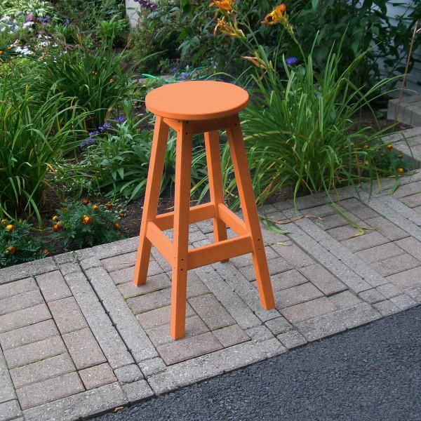 A & L Furniture Recycled Plastic Bar Stool Stool Orange