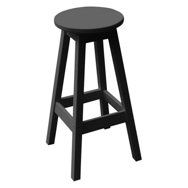 A & L Furniture Recycled Plastic Bar Stool Stool Black