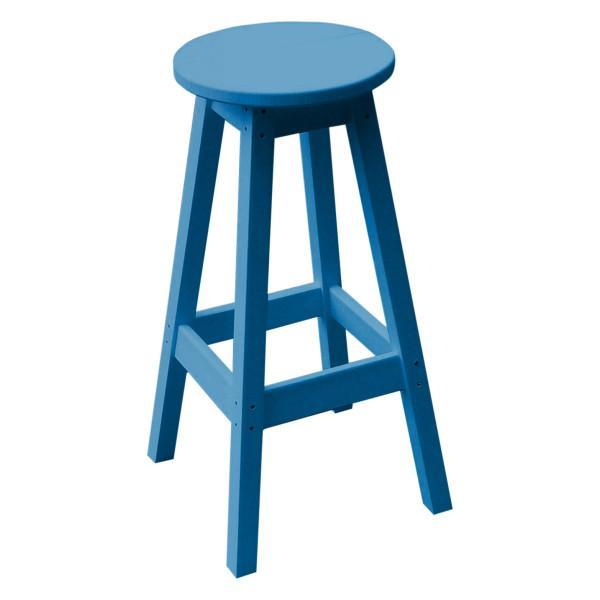 A & L Furniture Recycled Plastic Bar Stool Stool Blue