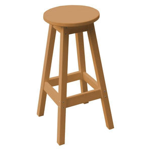 A & L Furniture Recycled Plastic Bar Stool Stool Cedar