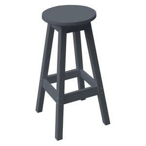A & L Furniture Recycled Plastic Bar Stool Stool Dark Gray