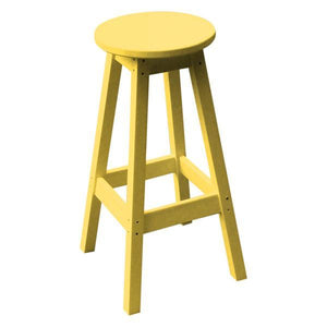 A & L Furniture Recycled Plastic Bar Stool Stool Lemon Yellow