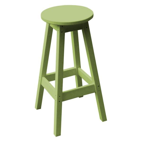 A & L Furniture Recycled Plastic Bar Stool Stool Tropical Lime