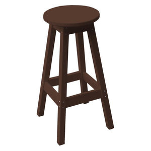 A & L Furniture Recycled Plastic Bar Stool Stool Tudor Brown