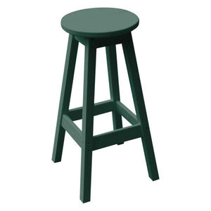 A & L Furniture Recycled Plastic Bar Stool Stool Turf Green