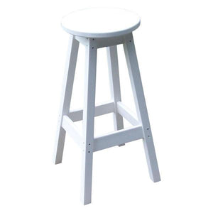 A & L Furniture Recycled Plastic Bar Stool Stool White