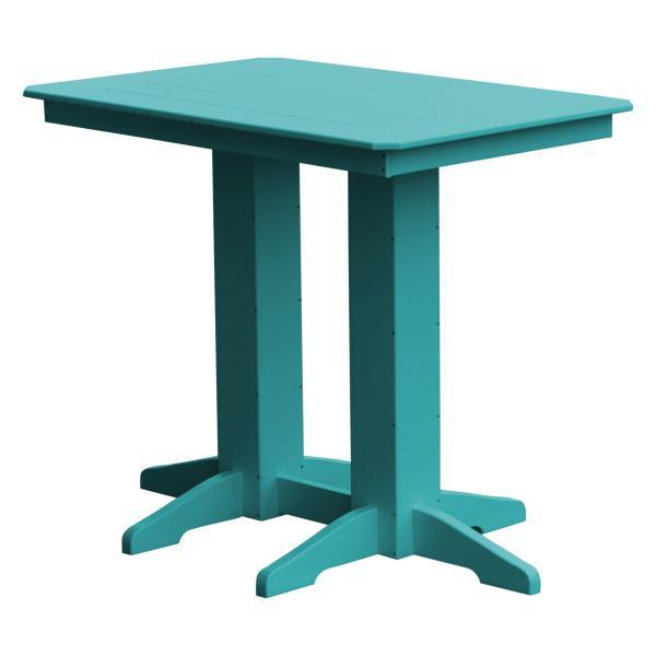 A & L Furniture Recycled Plastic Bar Table