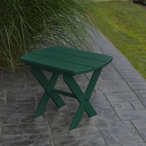 A & L Furniture Recycled Plastic Poly Folding End Table End Table Aruba Blue