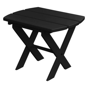 A & L Furniture Recycled Plastic Poly Folding End Table End Table Black
