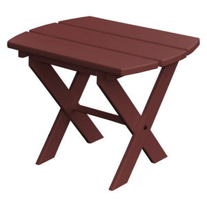 A & L Furniture Recycled Plastic Poly Folding End Table End Table Cherrywood