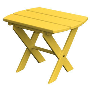 A & L Furniture Recycled Plastic Poly Folding End Table End Table Lemon Yellow