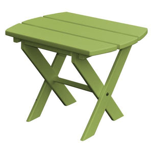 A & L Furniture Recycled Plastic Poly Folding End Table End Table Tropical Lime