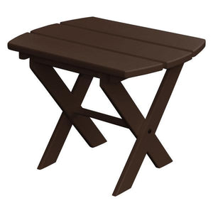 A & L Furniture Recycled Plastic Poly Folding End Table End Table Tudor Brown