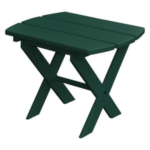 A & L Furniture Recycled Plastic Poly Folding End Table End Table Turf Green