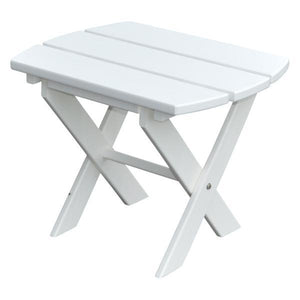 A & L Furniture Recycled Plastic Poly Folding End Table End Table White