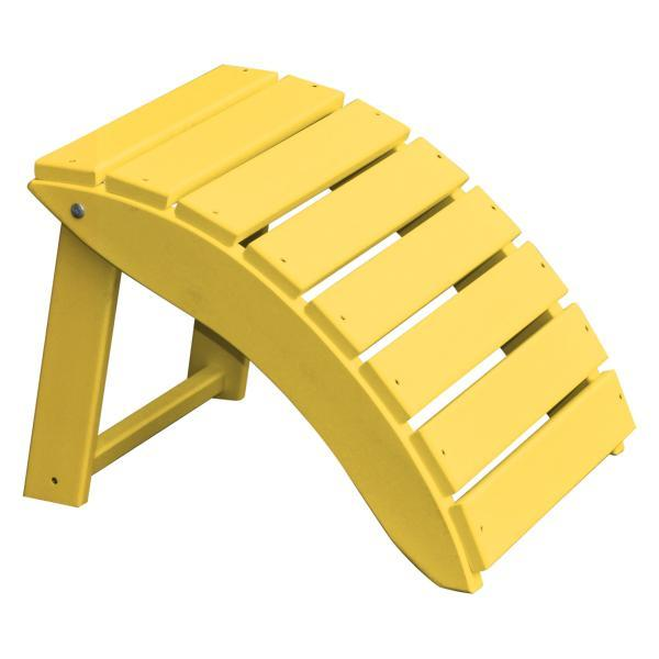 A & L Furniture Recycled Plastic Poly Folding Ottoman Ottoman Lemon Yellow