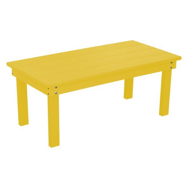 A & L Furniture Recycled Plastic Poly Hampton Coffee Table Coffee Table Aruba Blue