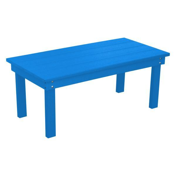 A & L Furniture Recycled Plastic Poly Hampton Coffee Table Coffee Table Blue