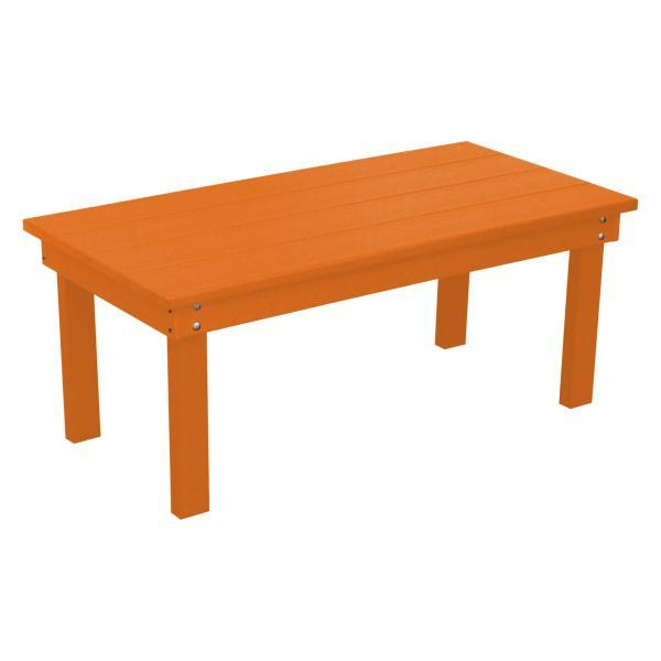 A & L Furniture Recycled Plastic Poly Hampton Coffee Table Coffee Table Orange