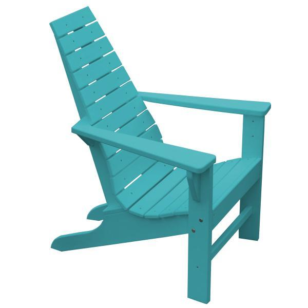 A & L Furniture Recycled Plastic Poly New Hope Chair Outdoor Chairs Aruba Blue