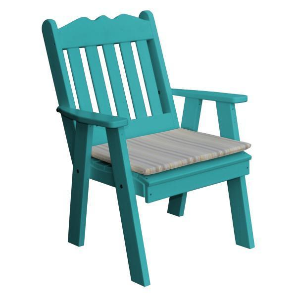 A & L Furniture Recycled Plastic Poly Royal English Chair Outdoor Chairs Aruba Blue