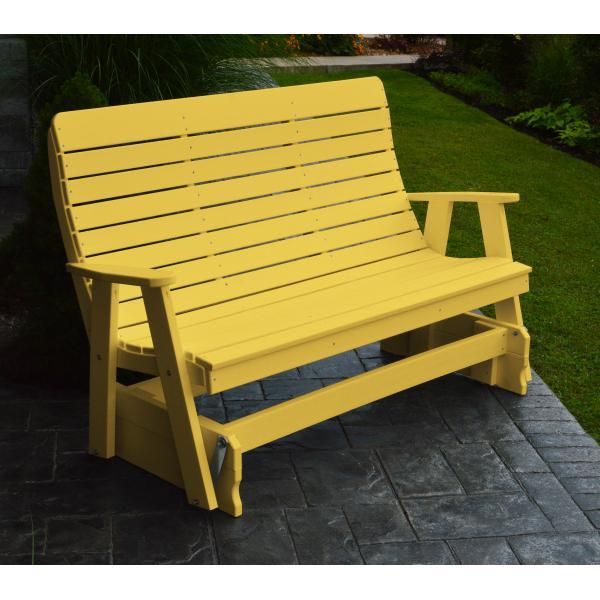 A & L Furniture Recycled Plastic Poly Winston Glider Glider 4ft / Lemon Yellow