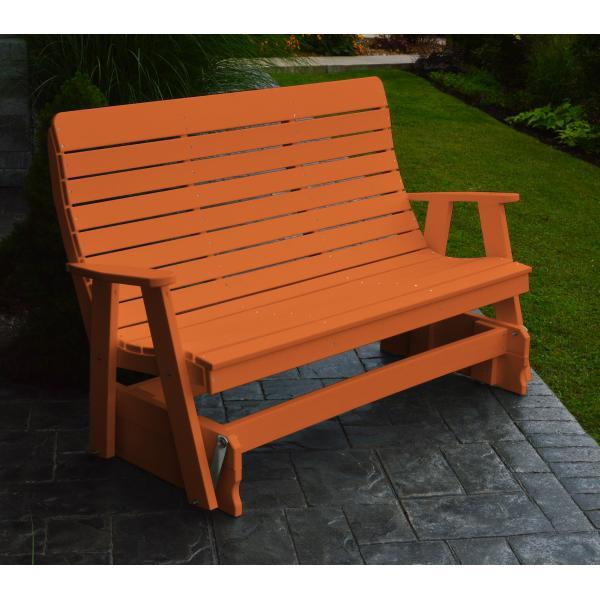 A & L Furniture Recycled Plastic Poly Winston Glider Glider 4ft / Orange
