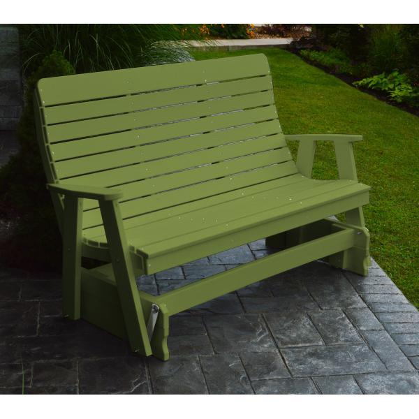 A & L Furniture Recycled Plastic Poly Winston Glider Glider 4ft / Tropical Lime