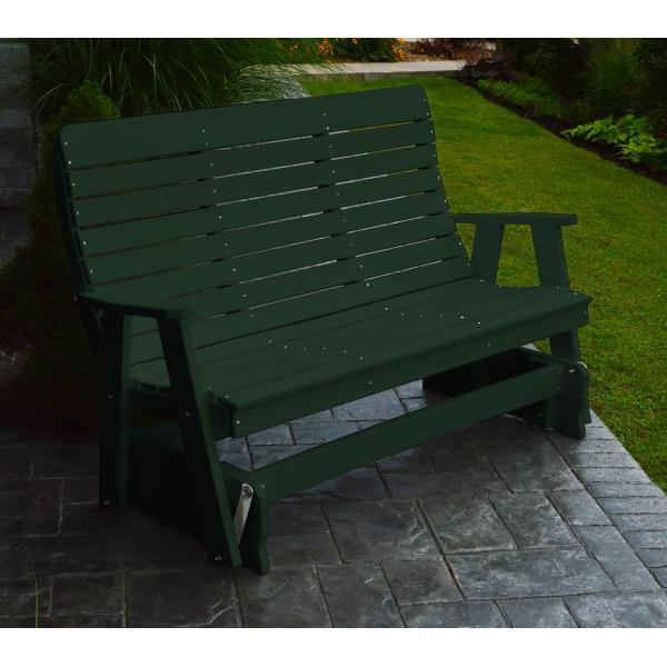 A & L Furniture Recycled Plastic Poly Winston Glider Glider 4ft / Turf Green